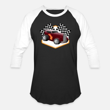 60s Car Racing Hot Rod Racing Car / Gift Idea - Baseball T-Shirt
