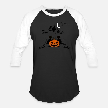 Halloween Pumpking Scary - Unisex Baseball T-Shirt