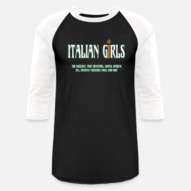 5f34d784db Funny Italian Italian - Italian - Italian Girls - Unisex Baseball T-Shirt