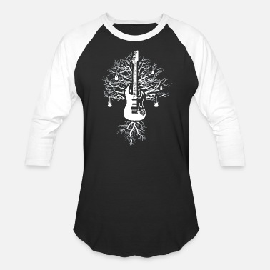 Rocknroll Rock and Roll Guitar Tree - Unisex Baseball T-Shirt