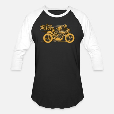 Cafe Racers Cafe - cafe racer | skeleton riding a cafe racer - Baseball T-Shirt