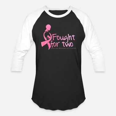 Pregnant Fought cancer while pregnant - Baseball T-Shirt