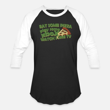 Porn Little Pizza - Eat Some Pizza - Baseball T-Shirt