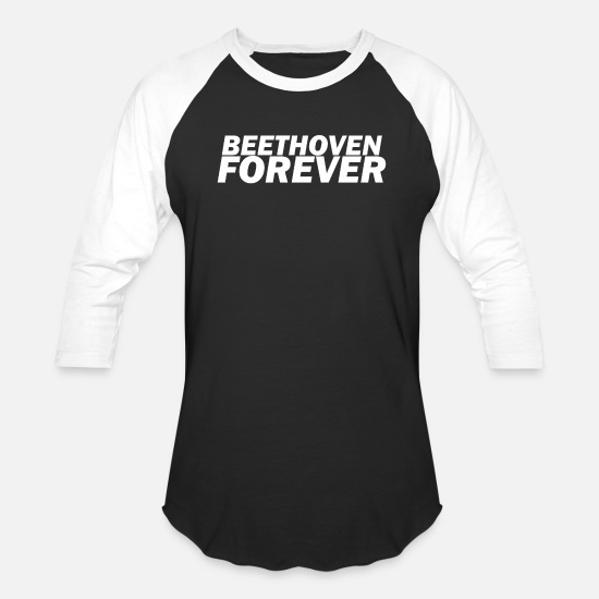 Birthday T-Shirts - Ludwig van Beethoven T-Shirt - Unisex Baseball T-Shirt black/white