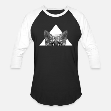 Triangle Cat Cat, inverted - white Triangle - Baseball T-Shirt