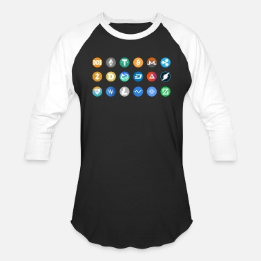 Pictogram Kryptocurrency Pictogram - Unisex Baseball T-Shirt