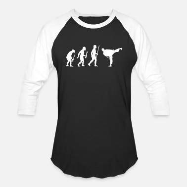 Karate Karate - Evolution of Karate - Baseball T-Shirt