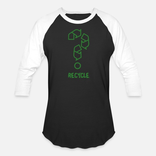 Recycle T-Shirts - Recycle - Unisex Baseball T-Shirt black/white