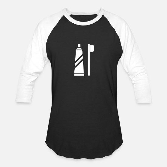 e793dbe43 Paint Brush T-Shirts - Toothpaste and Toothbrush - Unisex Baseball T-Shirt  black
