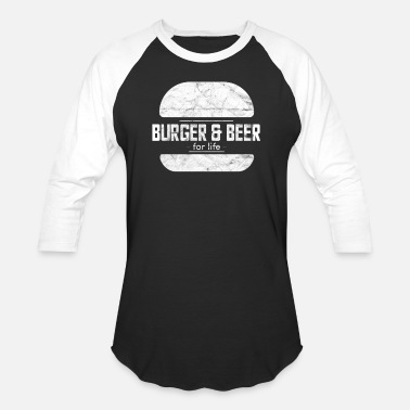 Meateaters Burger Beer Vintage Meateater Carnivore Barbecue B - Unisex Baseball T-Shirt