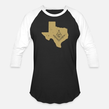 Square Texas Freemason Shirt With Freemason Square & Compass - Baseball T-Shirt