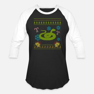Reptiles Ugly Christmas Pet Snake Christmas Sweater Shirt Reptile Shirt - Baseball T-Shirt