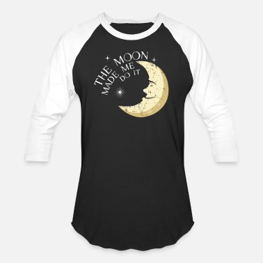 Wicca Yoga Wicca Wiccan Magic Art Moon Made Me Do It - Baseball T-Shirt