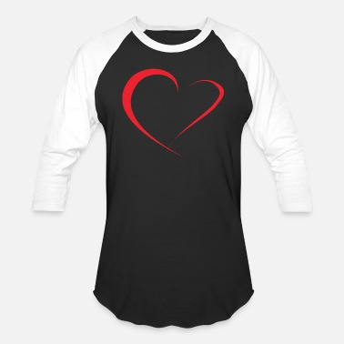Red Heart red heart - Unisex Baseball T-Shirt