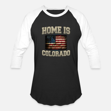 Lobe Home is Colorado USA US map gift unique fans Proud Strong Support - Baseball T-Shirt