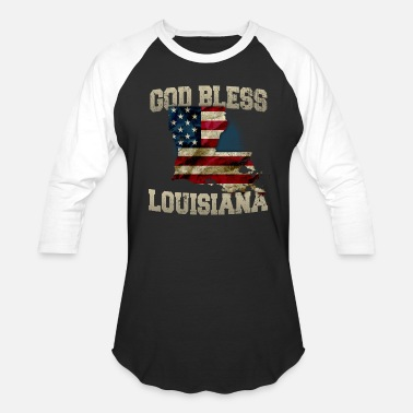 50 States God Bless Louisiana Gift Proud Strong Awesome Design Gift - Baseball T-Shirt