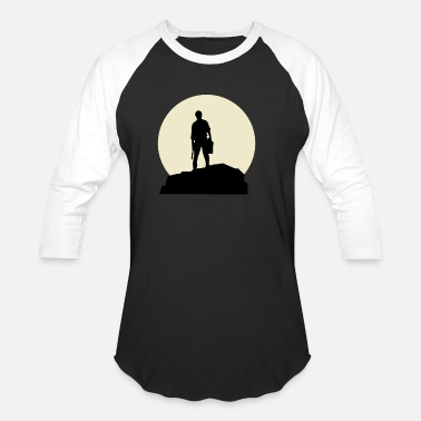 Selfemployed Good Worker And Moon Design - Unisex Baseball T-Shirt