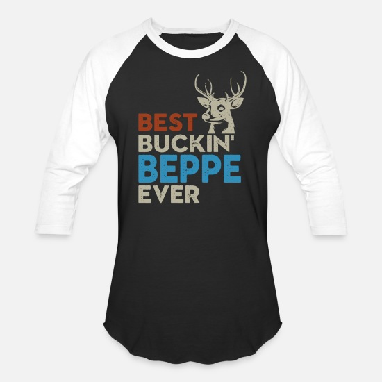 Best Man T-Shirts - Best Buckin Beppe Shirt, Hoodie Stunning Design - Unisex Baseball T-Shirt black/white