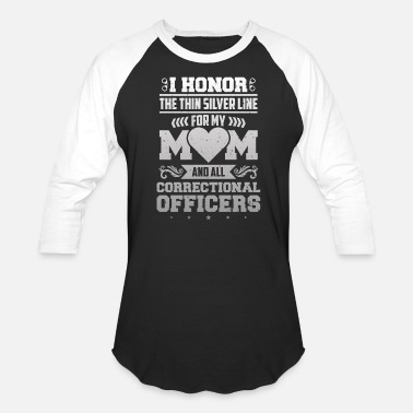 Prison Honor Corrections Officer Thin Silver Line Police - Unisex Baseball T-Shirt