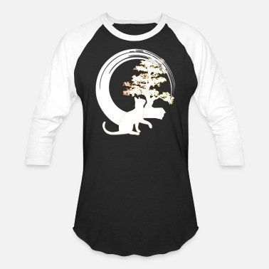 Bonsai japanese bonsai tree cat enso circle - Unisex Baseball T-Shirt