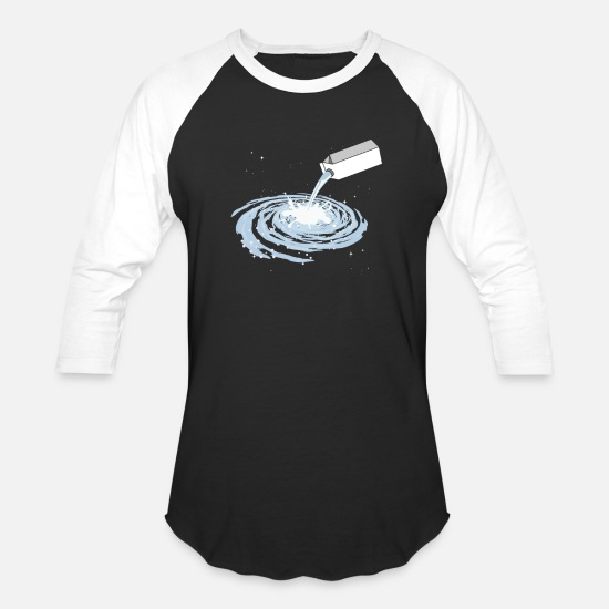 Solar System T-Shirts - Milky Way Galaxy Funny Pun Outerspace Universe - Unisex Baseball T-Shirt black/white