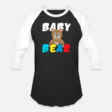 Baby Baby Bear Bears Forest Wildlife Grizzly Bear - Unisex Baseball T-Shirt