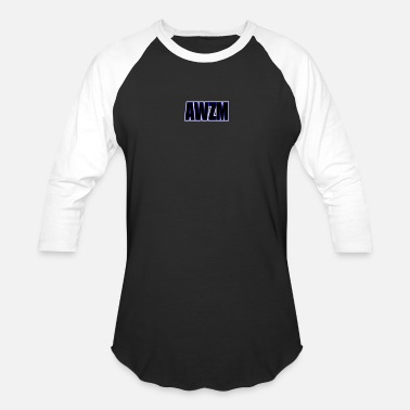 Shorten AWZM (Awesome Shortened) text design. - Baseball T-Shirt