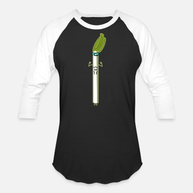 Leek Leek with sunglasses - Unisex Baseball T-Shirt