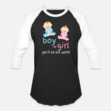 Woman pregnancy announcement childbirth baby woman - Baseball T-Shirt