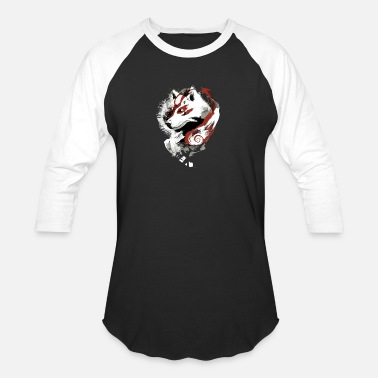 Ags Japan Kitsune (Fox Spirit From Japan) - Baseball T-Shirt