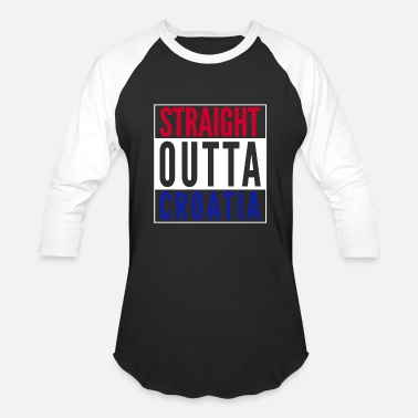 Straight From The A From Croatia with Love - Straight outta Croatia wh - Baseball T-Shirt