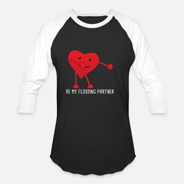 Handinhand Valentines Day Flossing Floss Heart Partner Gift - Unisex Baseball T-Shirt