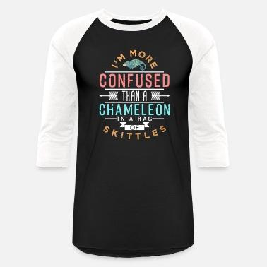 7a1884195 Chameleon Reptile Animal Iguana Funny Pet Gift - Unisex Baseball T-Shirt