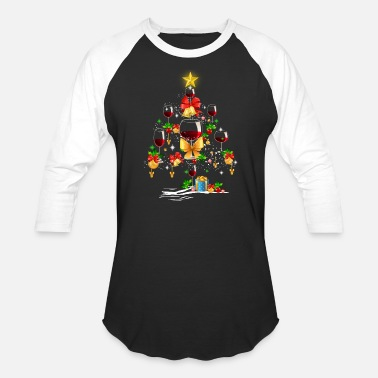Wine Wine Christmas Tree, Christmas 2018 Gift - Baseball T-Shirt