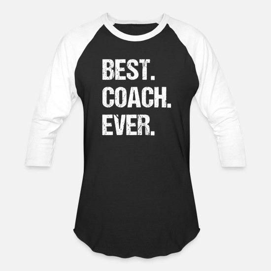 Coach T-Shirts - Best Coach Ever - Unisex Baseball T-Shirt black/white