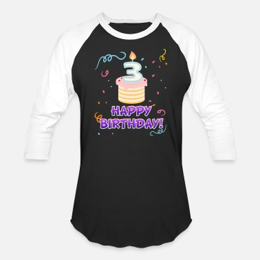 3 Year Old Happy Birthday - 3 years old - Baseball T-Shirt