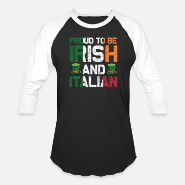 Irish And Italian St Patricks Day Irish Italian Funny Paddy Gift - Unisex Baseball T-Shirt