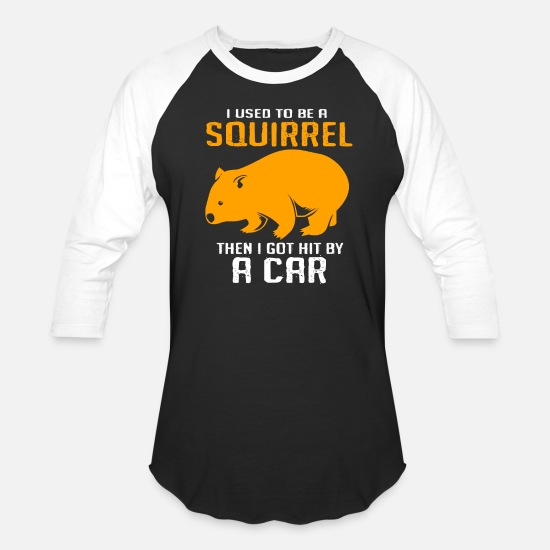 Squirrel T-Shirts - Wombat Marsupial Australia Animal Outback - Unisex Baseball T-Shirt black/white
