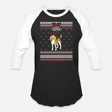 American Foxhound Ugly Christmas GraphicDog Owner - Unisex Baseball T-Shirt