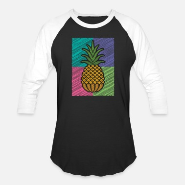 Pineapple Shirt Aloha Beaches Vacation Funny Gift - Unisex Baseball T-Shirt