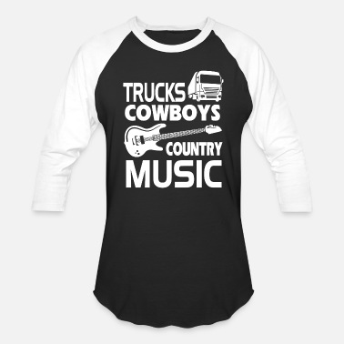 Country Of Birth Country - trucks cowboys country music - Baseball T-Shirt