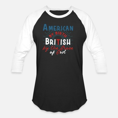 Freedom Tower Half USA, Half British - Baseball T-Shirt