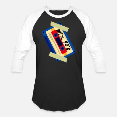 Tape Mix 90 s Casette - Unisex Baseball T-Shirt