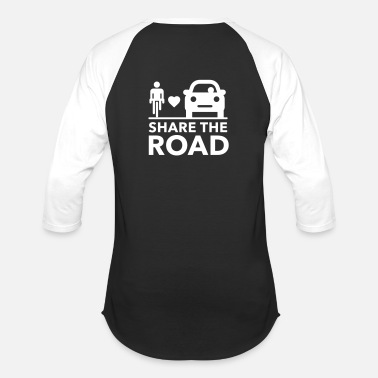 Share Share the road - Unisex Baseball T-Shirt