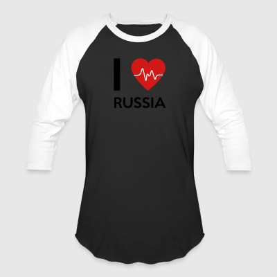 I Love Russia - Baseball T-Shirt