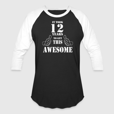12th Birthday Get Awesome T Shirt Made in 2005 - Baseball T-Shirt