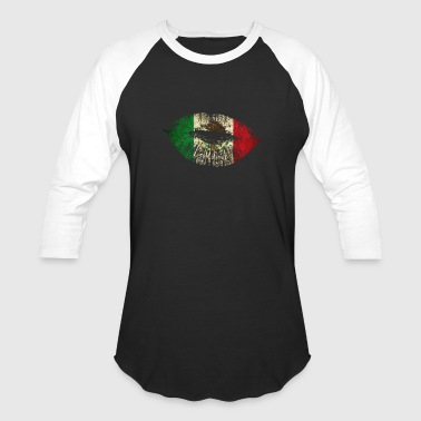 Cool Mexican Shirt Mexican Flag Lips Shirt for Mexican Pride - Baseball T-Shirt