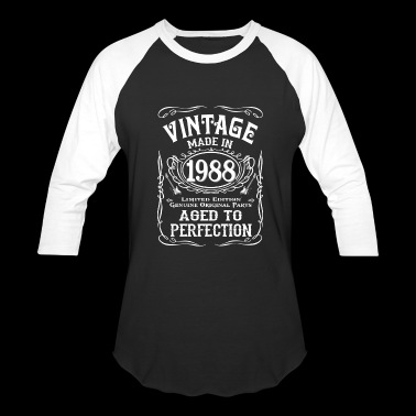Vintage Made In 1988 Birthday Gift Idea - Baseball T-Shirt