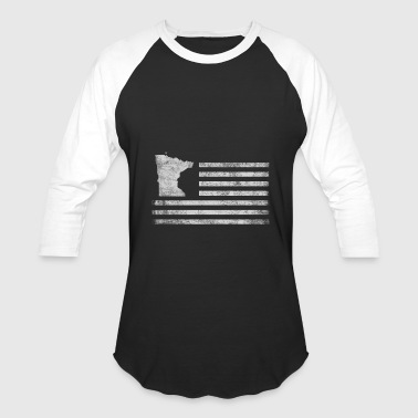 Minnesota State United States Flag Vintage USA - Baseball T-Shirt