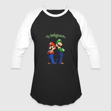 Mario and luigi bodyguards - Baseball T-Shirt